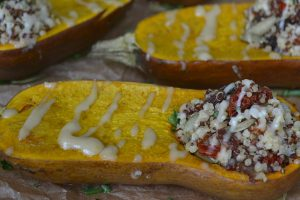 Stuffed Roasted Honeynut Squash With Quinoa Salad