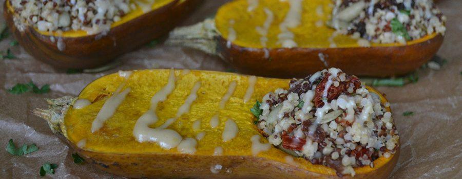 Stuffed Roasted Honeynut Squash With Quinoa Salad