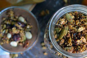 Healthy Vegan Pumpkin Granola (Oil-free)
