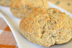 The Best Vegan Onion Herb Biscuits (Oil-Free)