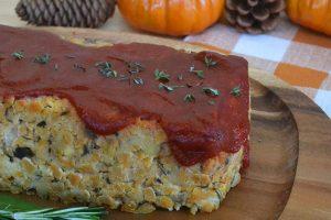 Vegan Tempeh Mushroom Holiday Loaf