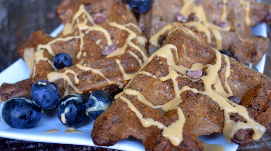 Easy Vegan Protein Waffles