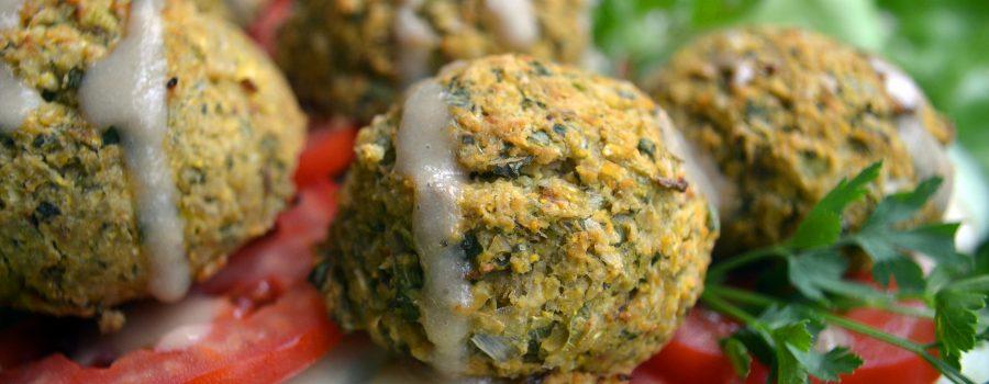 Healthy Vegan Falafel Balls(Oil-Free, Low-Fat)