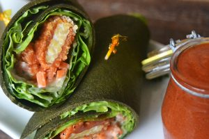 Healthy Raw Vegan Spinach Wraps