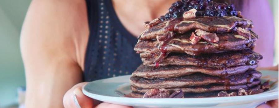 Blueberry Protein Pancakes ⠀