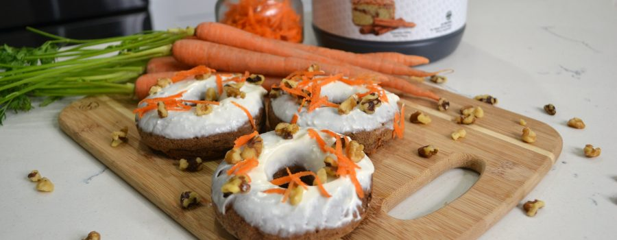 High-Protein Carrot Cake Donuts