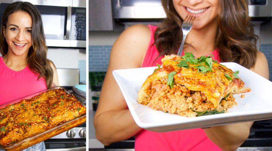 Vegan Enchilada Lasagna